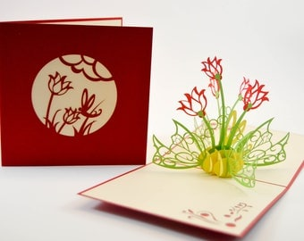 Pop Up 3D Card, Greeting Card, Thank You Greeting Card