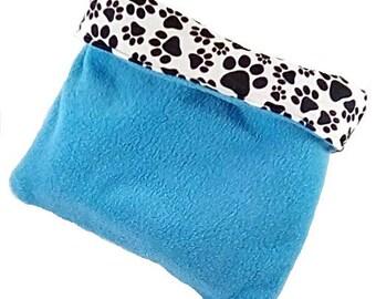 Plush small animal snuggle bag, guinea pig cuddle cup, ferret sleeping bag, hedge hog snuggle sack, rat bag, hamster bed