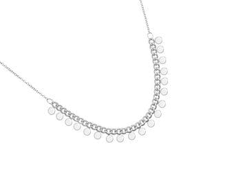 Delicate and small beads pendants Silver 925 - minimalist Choker necklace
