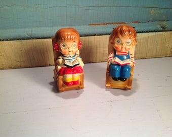 Vintage Lefton children shakers