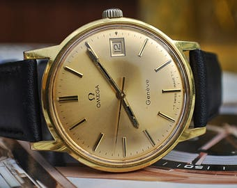 Omega Geneve Calibre 613 Gents Vintage Watch In Box c1970's-Stunning!