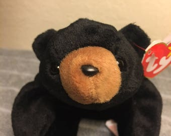 """TY Beanie Baby """"Blackie"""" with Multiple Tag Errors, Retired, Rare 1993/1994"""