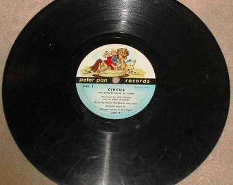 Vintage 1960's Children's Music CIRCUS Len Stokes Peter Pan Records 33 1/3 RPM