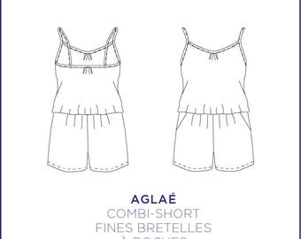 Pattern - Combi - short Aglaé, full size pattern from 34 to 46