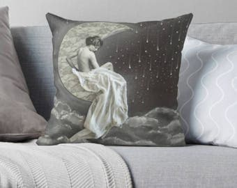 throw pillow 16 x 16 moon goddess decorative pillow and pillow cover La Bella Luna by Tori Jane