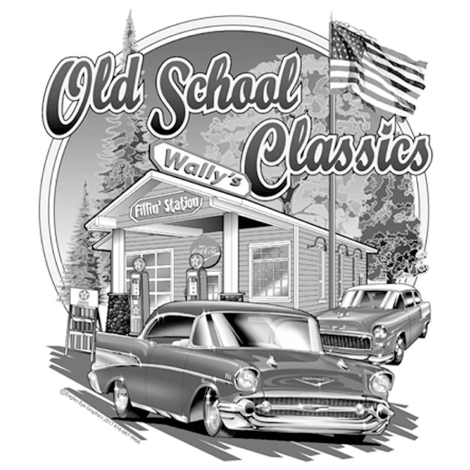Wally\'s Fillin\' Station / Old School Classics T-shirt Design ...