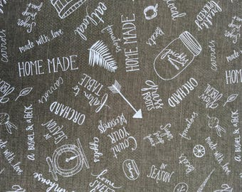 Freshly Picked Gray fabric by Katie Doucette from Wilmington Prints