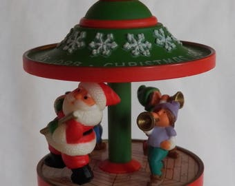 Vintage 1983 Hallmark Carousel #6 - Santa and Friends - QX4019