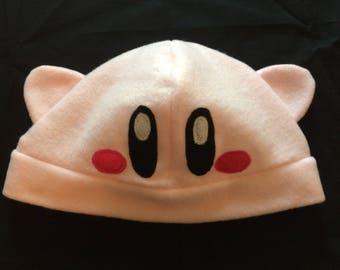 Fleece Kirby Hat Pink