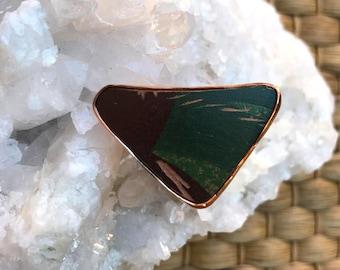 Copper Ring with Antique Vessel Insert, Vintage ring, boho ring, Adjustable ring, Reiki ring, copper, copper ring, vintage ring, retro ring