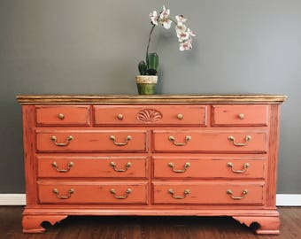 Persimmon Distressed Dresser