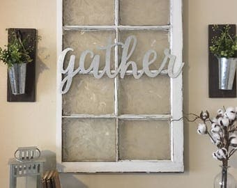 Metal Gather Sign Gallery Wall Decor Home Farmhouse