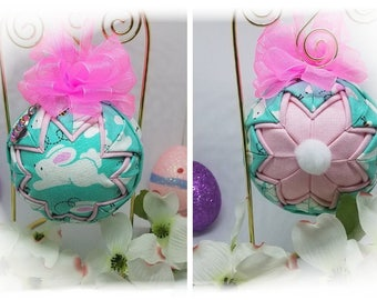 Easter Handmade Quilted Keepsake Ornament Peter Cottontail