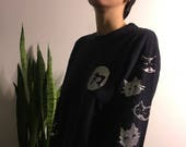Neko Screenprinted Long Sleeve Shirt - Small
