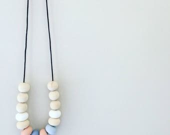 Wonder - Silicone & Raw Timber Necklace