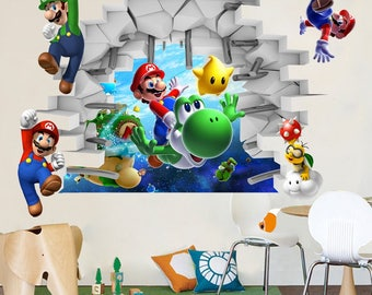 Super Mario Galaxy Wall Decal Wall Stickers Kids Part 73