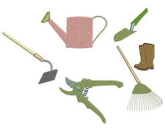 Utensiles garden embroidery designs