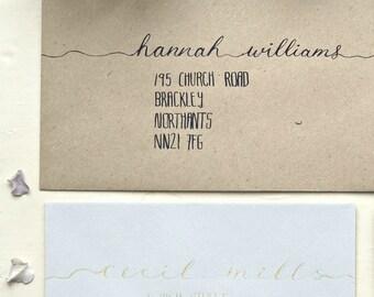 Envelope Addressing, Personalised Wedding Invitations, Elegant Wedding ideas, Handwritten wedding stationery, rsvp, Calligraphy envelope