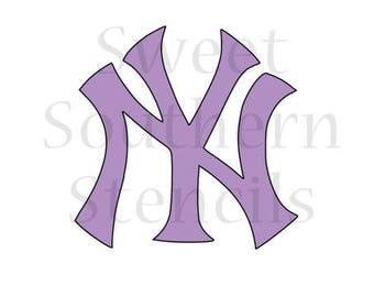 NY Sports Logo Cookie Stencil