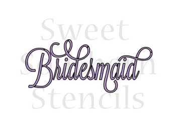 Fancy Bridesmaid Cookie Stencil