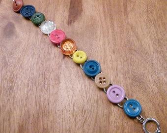 Vintage Button Bracelet  3, B88
