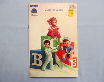 Knitting Pattern Book 'Just for Dolls', Baby Dolls and Teen Dolls, 1966