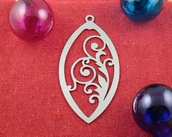 Stainless Steel Scrollwork Christmas Ornament, Stainless Steel, Christmas Ornaments, Christmas Decoration, Tree Ornament, Christmas