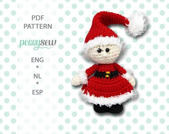 Mini Mr. Santa, amigurumi crochet pattern