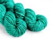 Jade Emperor - Bulky Hand Dyed Yarn - Single Ply Super Chunky Yarn - Hand Dyed Knitting Yarn - Arm Knitting - Super Bulky Superwash Yarn