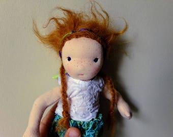 8 inch Waldorf style mermaid doll
