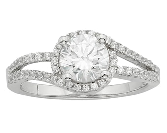 Sterling Silver Engagement Rings with Swarovski Elements Crystals