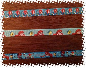 3/8 Wide Custom Made Adjustable Breakaway Ariel Patterns Grosgrain Cat Collar