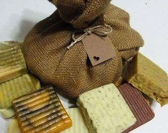 12 Organic Soaps/Soap Sampler/Bar Soap Set/Essential Oil Soap/Soap Sale/Natural Soap/Vegan Soap/Handmade Soap/Cold Process Soap/Gift Soap