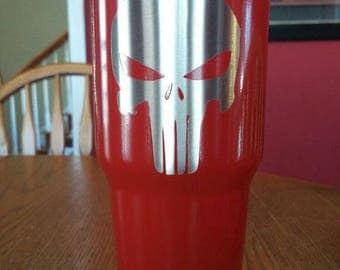 red punisher stainless steel tumbler