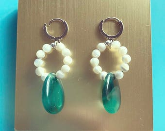 Onyx Among Pearls Earrings