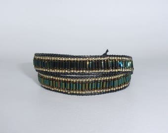 "Wrap bracelet 2 turns ""Forest"""