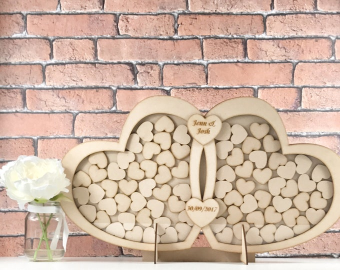 Double heart Wedding Guestbook