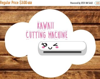 50% OFF 24 Kawaii Cutting Machine stickers