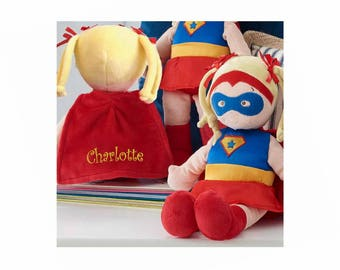 Personalized Dibsies Super Hero Doll - Blonde, 14 Inch