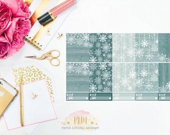 January Full Box Stickers | Planner Stickers designed for use with the Erin Condren Life Planner
