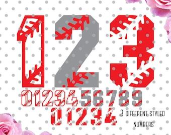 Baseball numbers Svg, sports numbers svg, baseball SVG, DXF, numbers svg, sports svg, Cricut Design Space, Digital Cut Files
