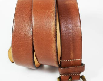Massimo Dutti Vintage Mens Leather Belt Brown Size 40