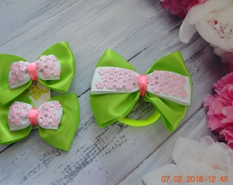 hair clips and hair tie set