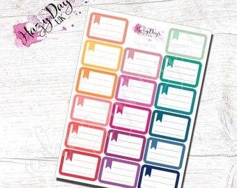 025 - Rainbow Flag Memo Half Box - Planner Stickers. to monitor Emails, Messages, reminders, notes for ECLP, Happy Planner, Filofax, TN etc