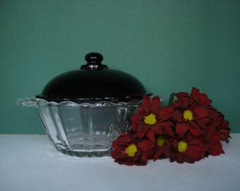 Vintage Royal Ruby Old Cafe Candy Jar by Anchor Hocking