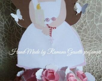 Centerpiece first communion girl, boy, baptism, birthday, centerpieces, handmade