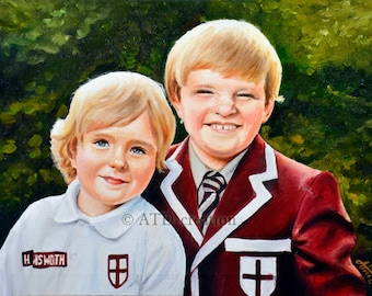 CUSTOM oil portrait on canvas  - hand drawn portrait from your photo