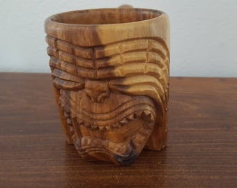 Monkey Pod Wood Tiki Mug