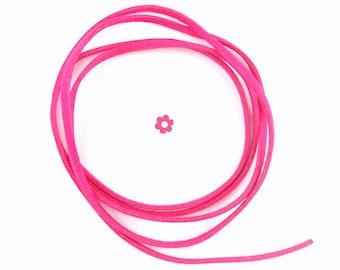 2x1m cord strap suede fuchsia 3mm (A 63)