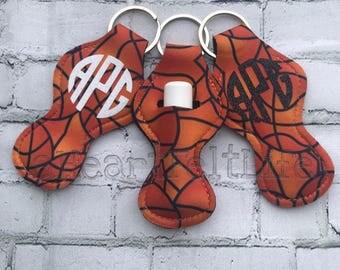 Basketball Chapstick Holder Keychain | Monogrammed Keychain | Personalized Chapstick Holder | Personalized Gifts | Lipstick